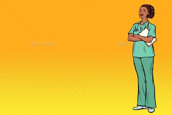 Pop Art Nurse Medicine and Health - People Characters