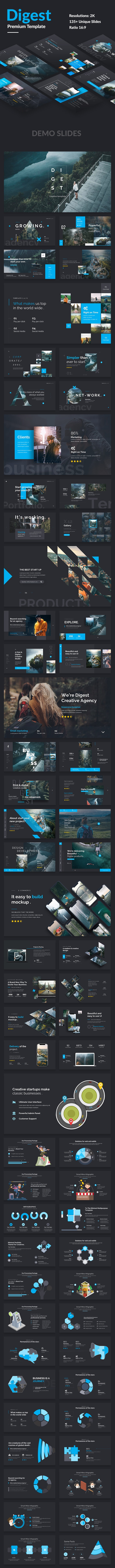 Digest Premium Project Powerpoint Template - Creative PowerPoint Templates