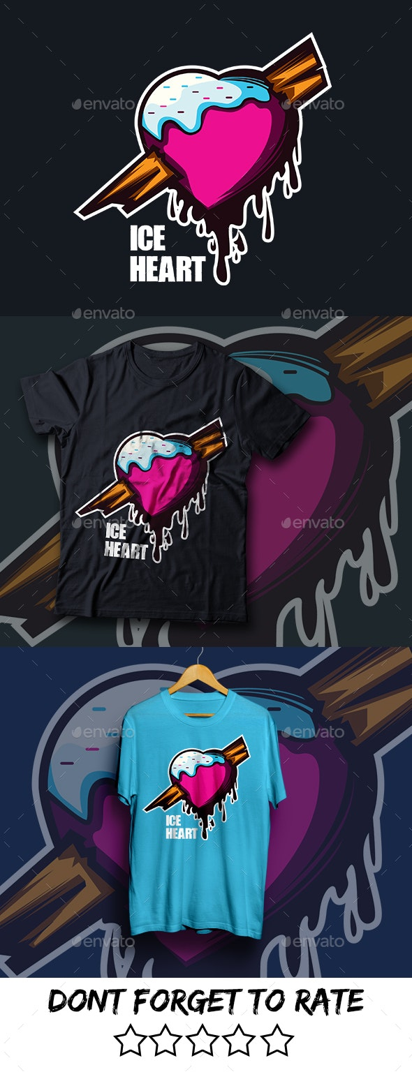 Ice Heart - T shirt Design - Clean Designs