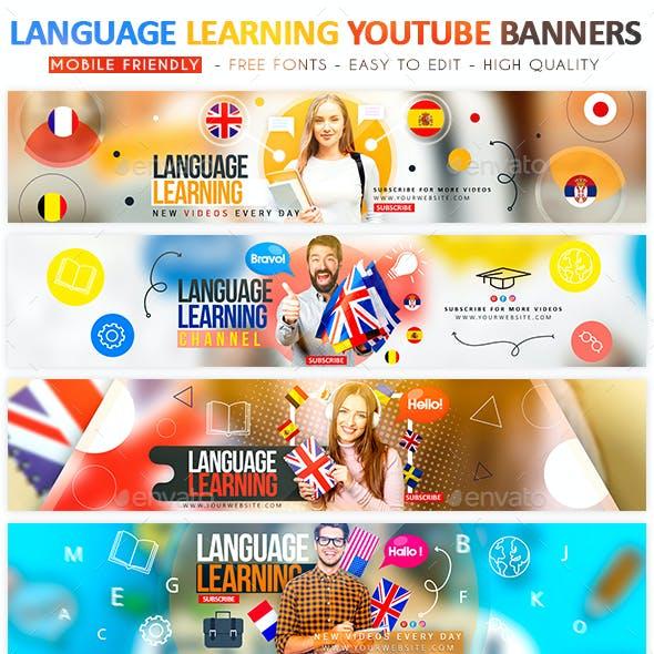 Language Learning YouTube Banner