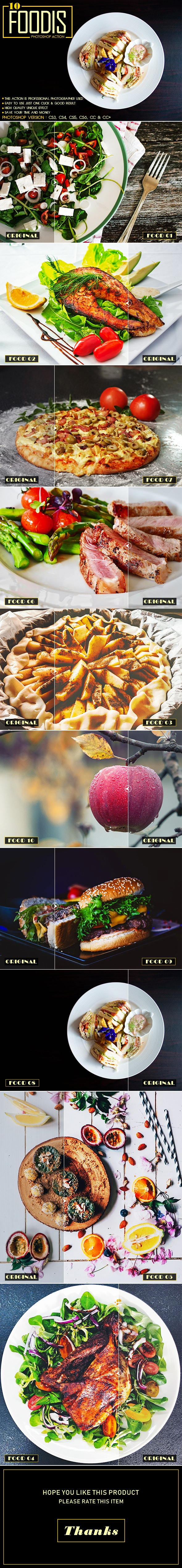 10 Foodis Photoshop Action - Photo Effects Actions
