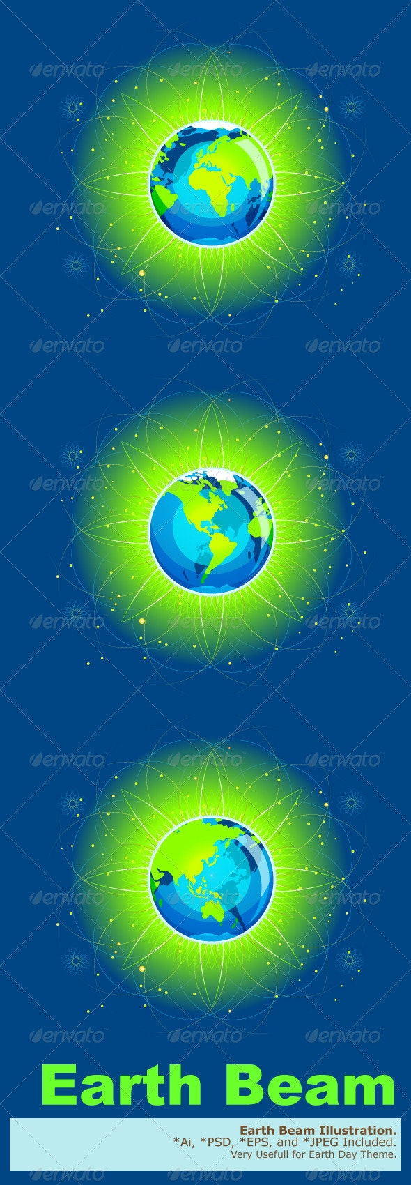 Earth Beam Continents - Nature Conceptual