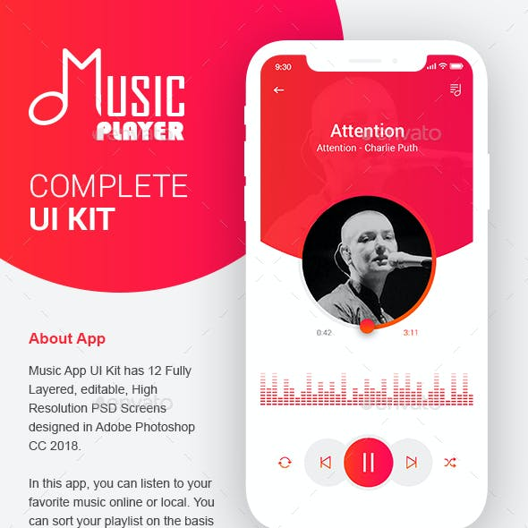 Music Player | Music App by Designyourinnovation | GraphicRiver
