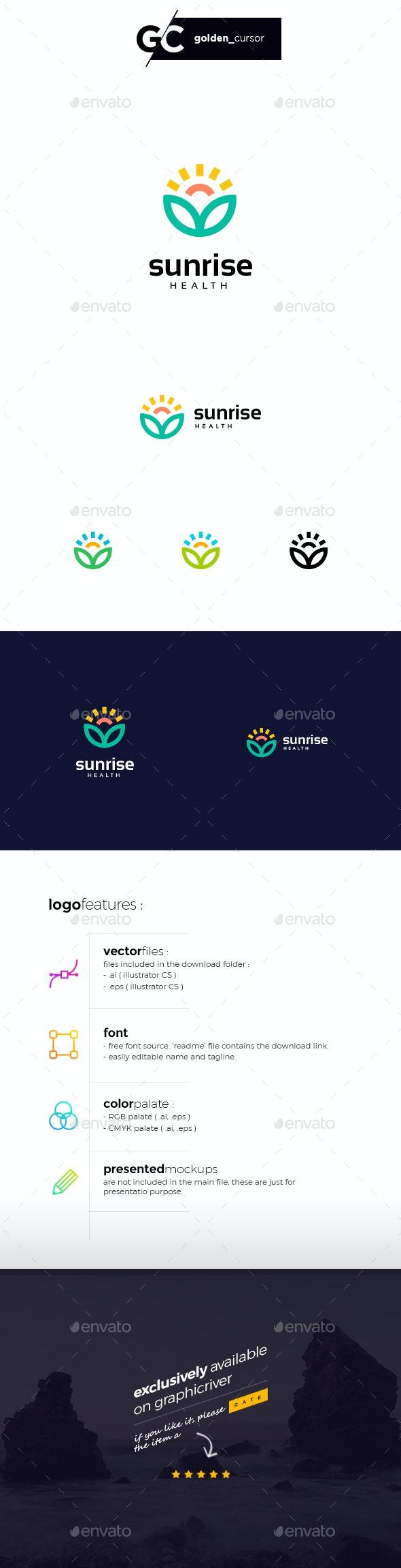 Sunrise Health Logo Template - Nature Logo Templates