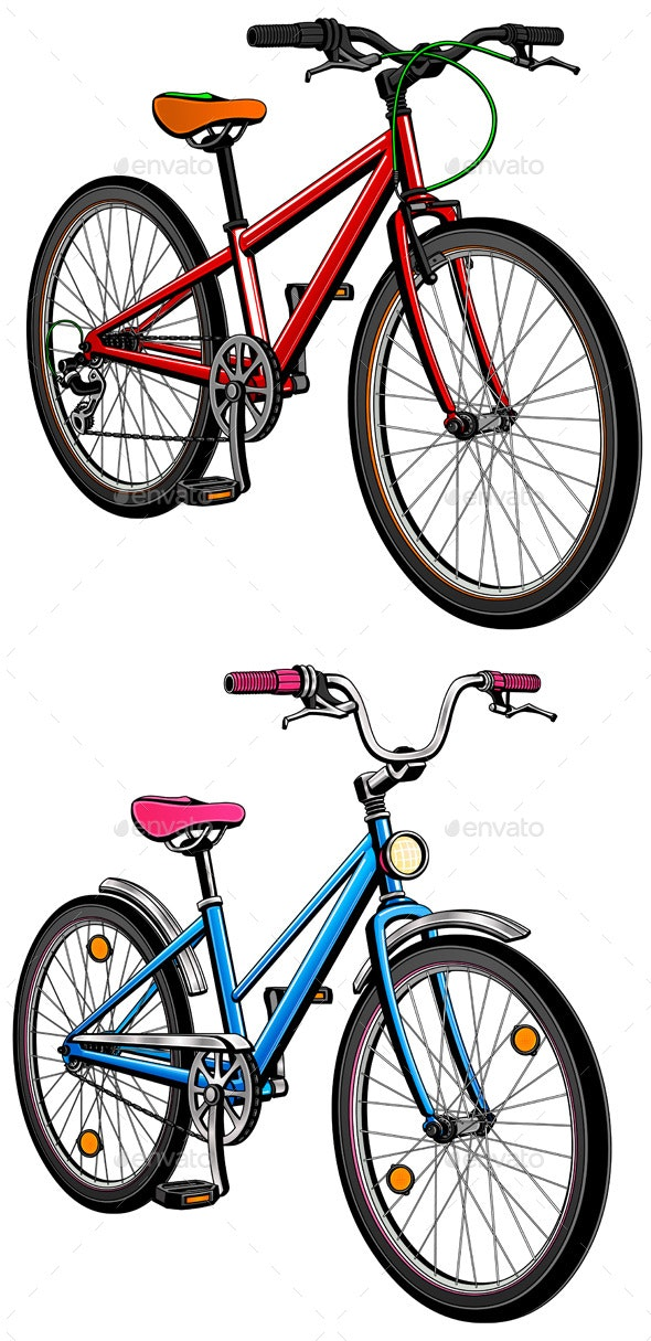 2 City Bicycles - Sports/Activity Conceptual