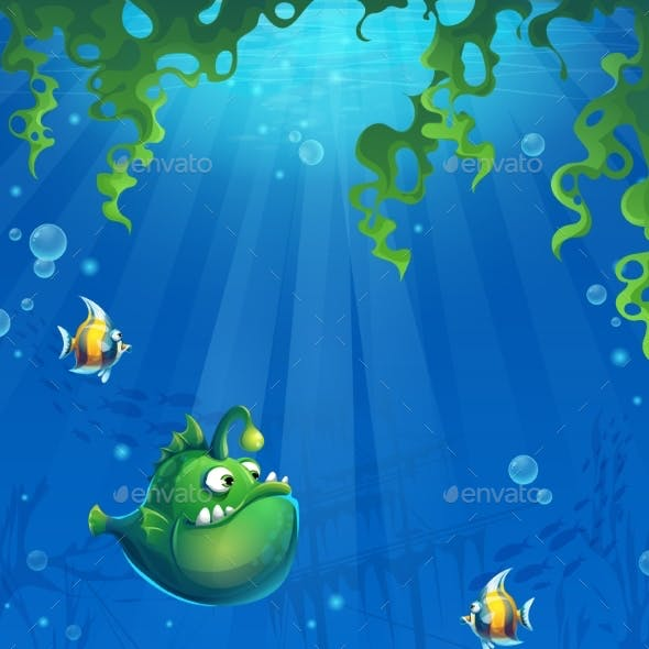Vertical Mobile Background - Undersea World