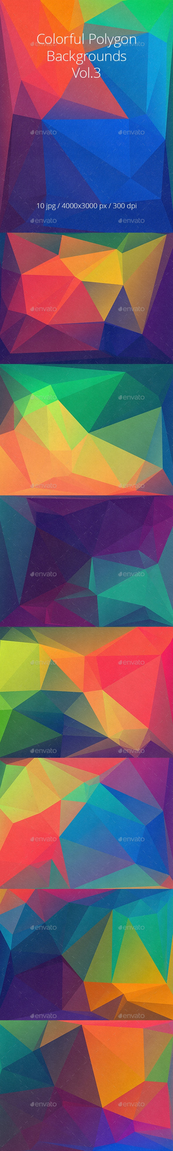 Colorful Polygon Backgrounds Vol.3 - Abstract Backgrounds