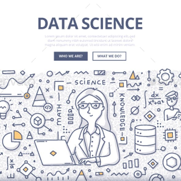 Data Science Doodle Concept