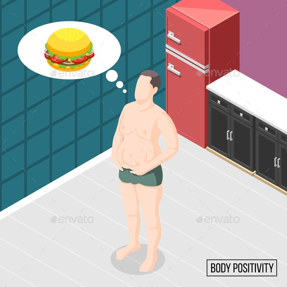 Body Positivity Movement Vector Illustration - People Characters