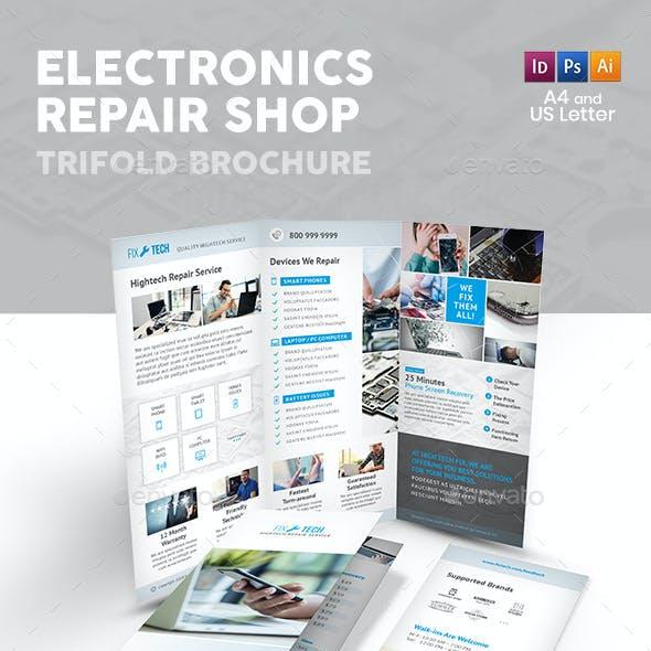 Electronic Repair Shop Trifold Brochure