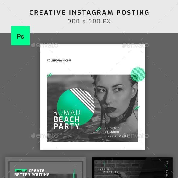 Neon Instagram Template