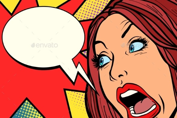Woman Screams - People Characters