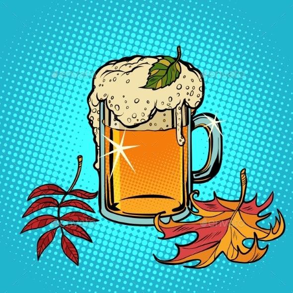 Beer Foamy Oktoberfest Autumn - Food Objects