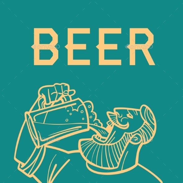 Beer Man Drinks - Food Objects