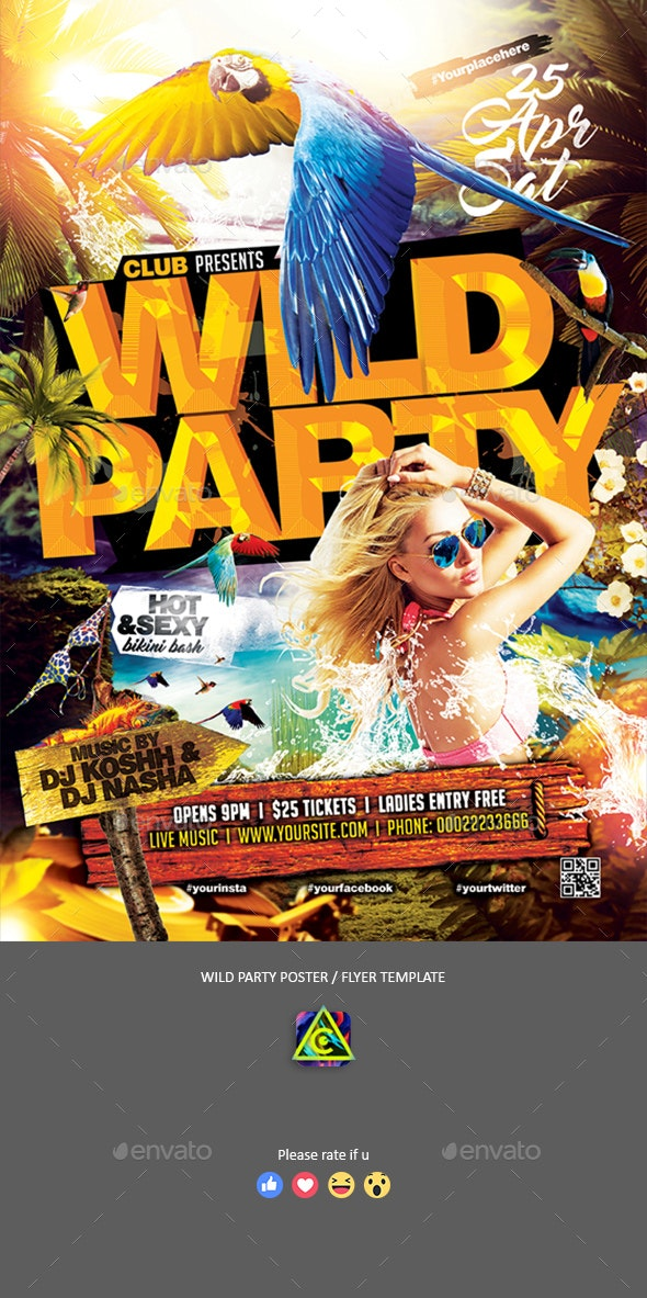 Wild Party Poster / Flyer - Clubs & Parties Events