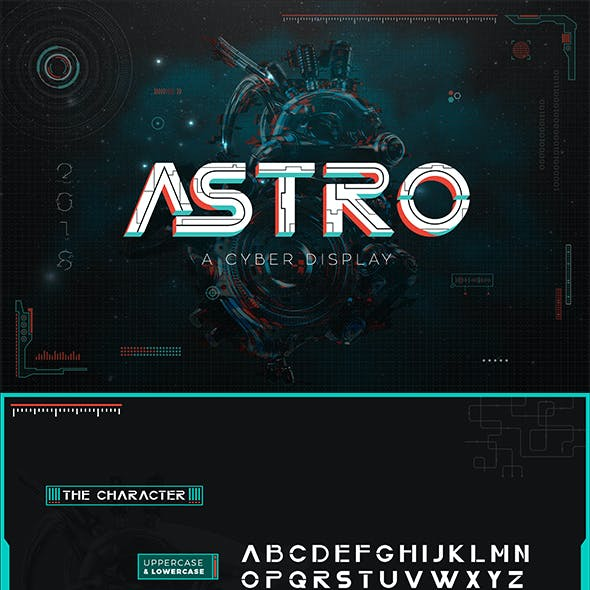 ASTRO CYBER DISPLAY FONT