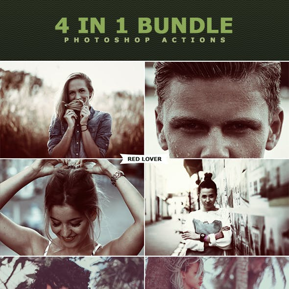 4 in 1 Photoshop Actions