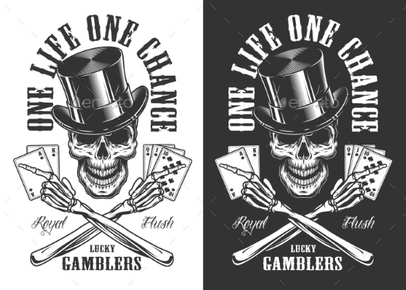Casino Concept with Skull - Business Conceptual