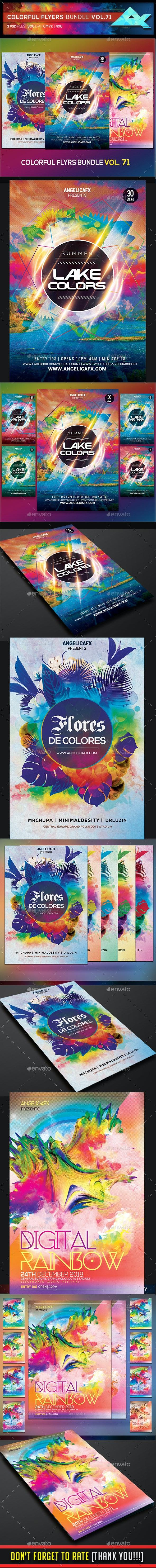 Colorful Flyers Bundle Vol. 71 - Flyers Print Templates