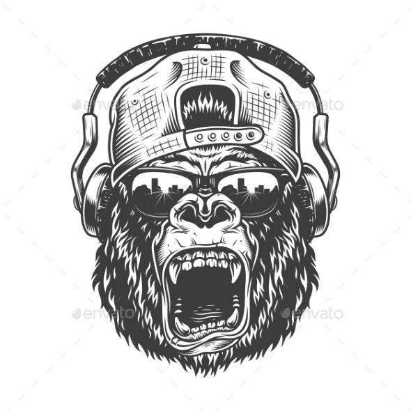 Hipster Gorila Face - Miscellaneous Vectors