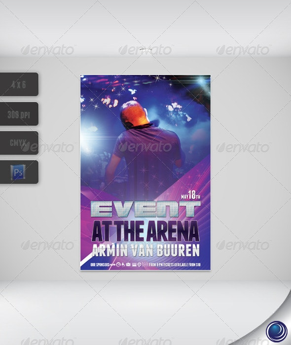 Elegant Modern Party Flyer Template - Clubs & Parties Events