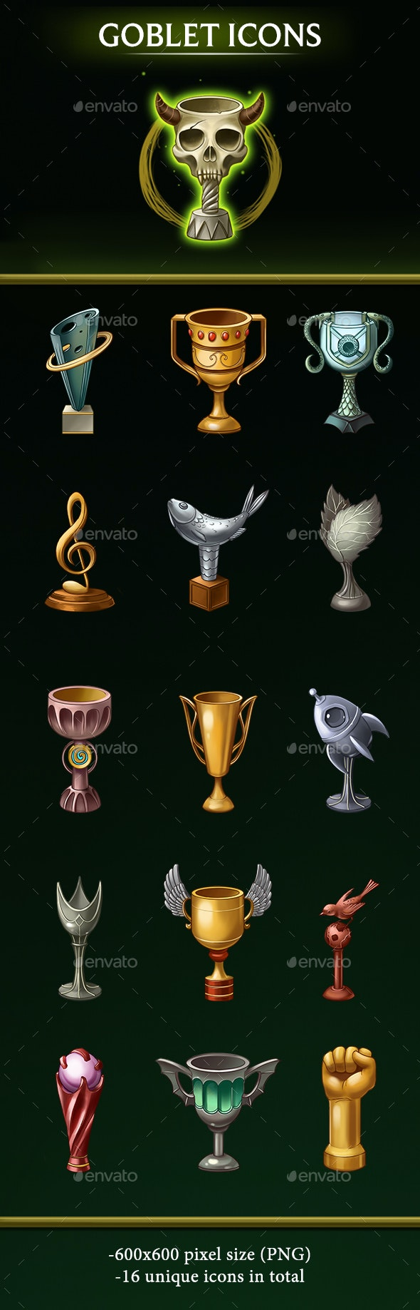 Goblet Icons - Miscellaneous Game Assets