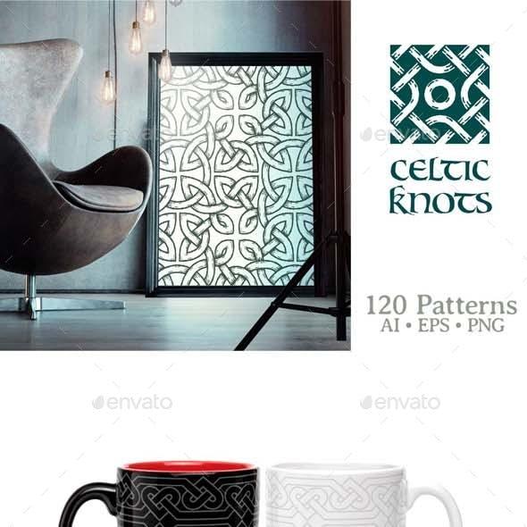 Celtic Knots Seamless Patterns