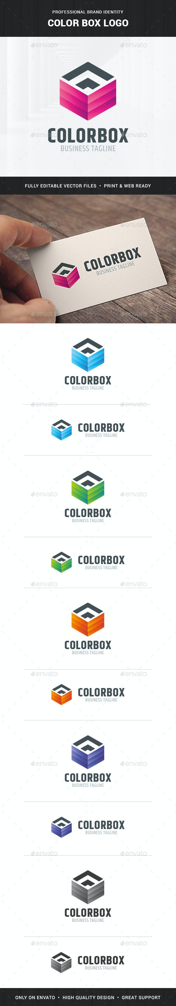 Color Box Logo Template - Objects Logo Templates