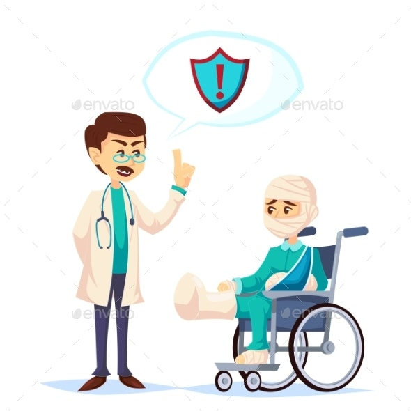 Doctor Talking About Insurance Coverage Safety - Health/Medicine Conceptual