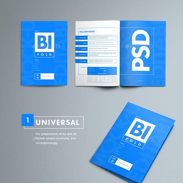 7 Mock_up Bi-Fold Brochures
