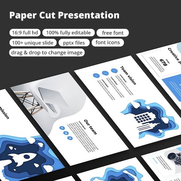 Paper Cut PowerPoint Presentation