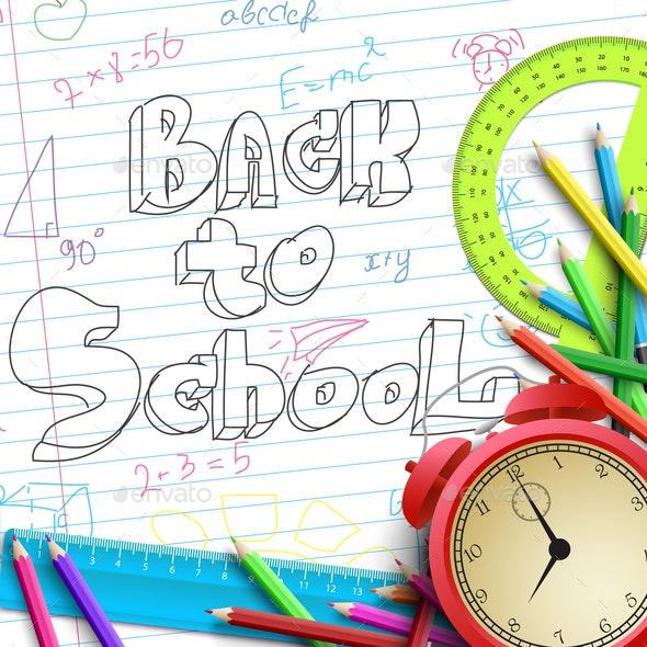 School Time Template - Miscellaneous Vectors