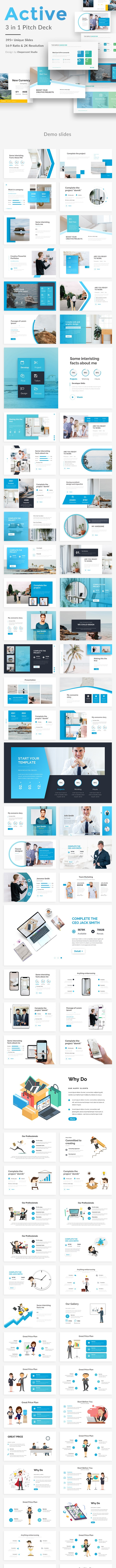 Active 3 in 1 Keynote Bundle Template - Creative Keynote Templates