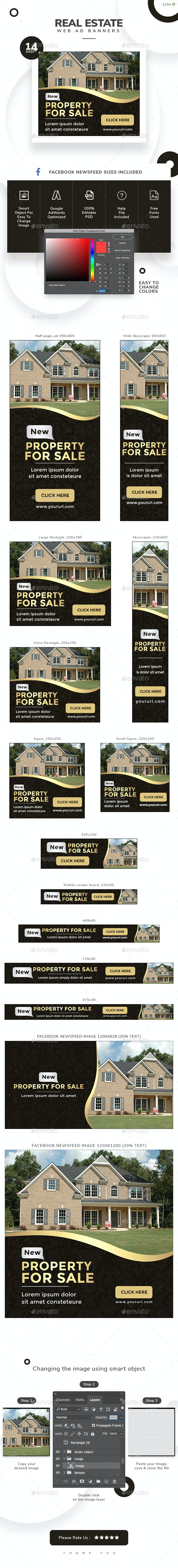 Real Estate Web Banners - Updated! - Banners & Ads Web Elements