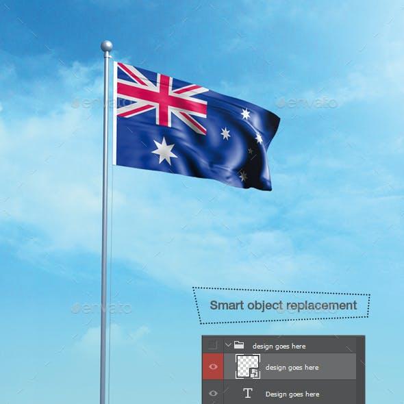 3D Flag Mockup v2