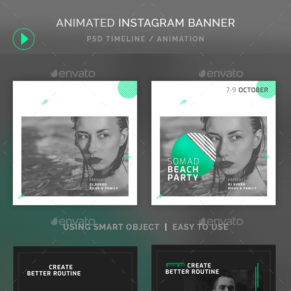 Animated Instagram Banner