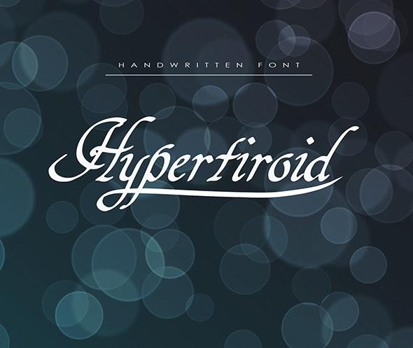 Hypertiroid - Script Fonts