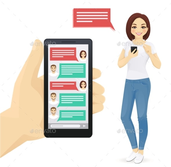 Online Chat - Technology Conceptual