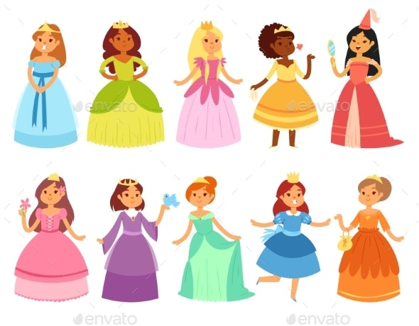Princess Vector Little Girl Character  - People Characters