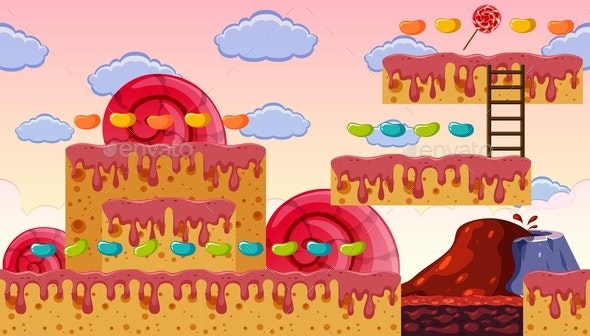 A Sweet Tooth Game Template - Landscapes Nature