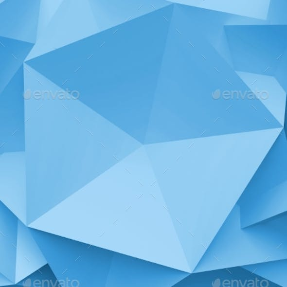 3D Abstract Background. Illustration of Geometric