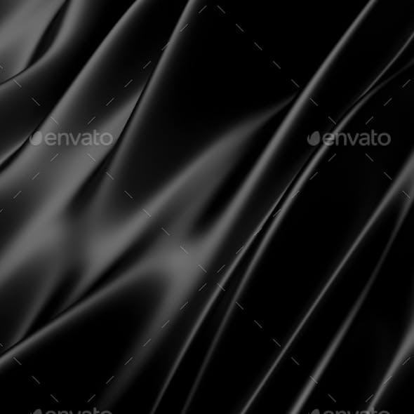 Abstract Texture. Black Silk