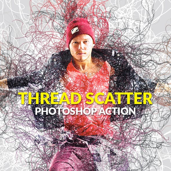 Thread Scatter Photoshop Action