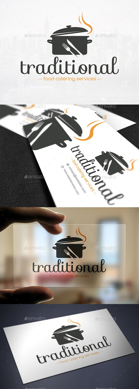 Traditional Food Logo Template - Restaurant Logo Templates
