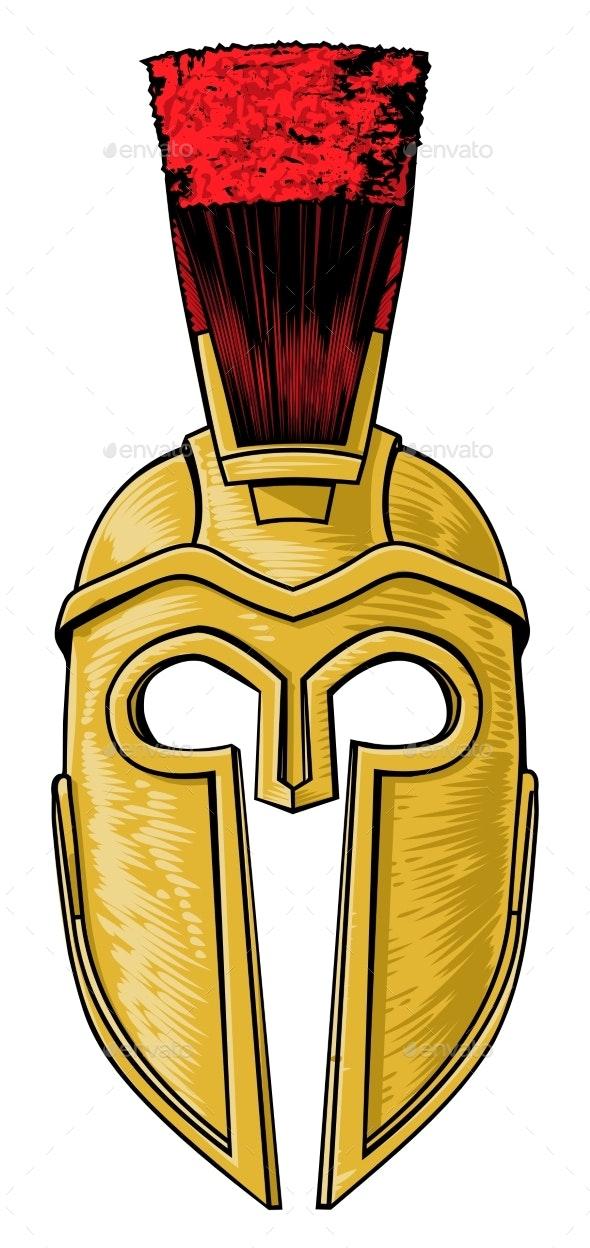 Ancient Greek Spartan Trojan Roman Helmet - Miscellaneous Vectors