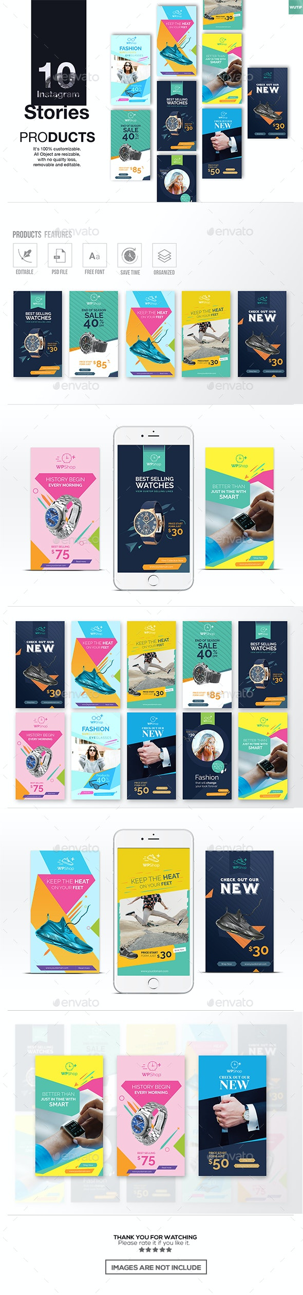 10 Instagram Stories-Products - Miscellaneous Social Media