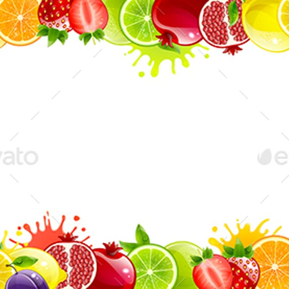 Banner with Juicy Fruit