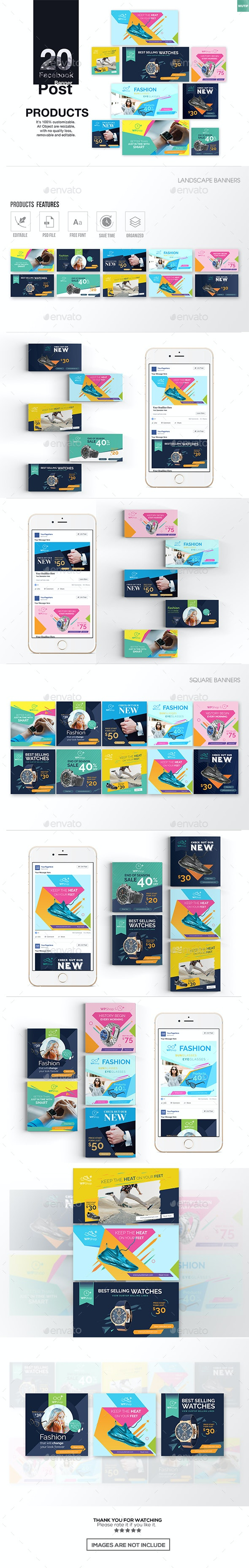 20 Facebook Post Banner-Products - Miscellaneous Social Media