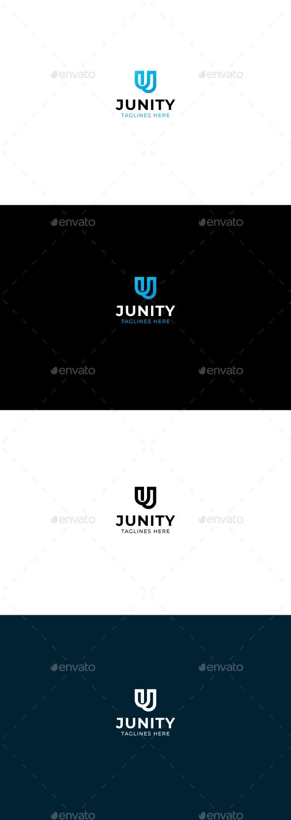 Junity/ letter J, letterU logo template - Letters Logo Templates