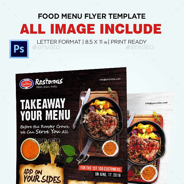 Food Menu - Restaurant Menu Flyer